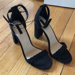 Shoes - Braided Strap Heels
